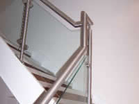 polished metal balustrades