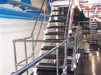 polished steel balustrades