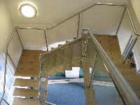 polished steel glass balustrades